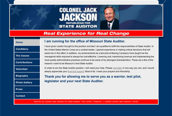 Jack Jackson website homepage